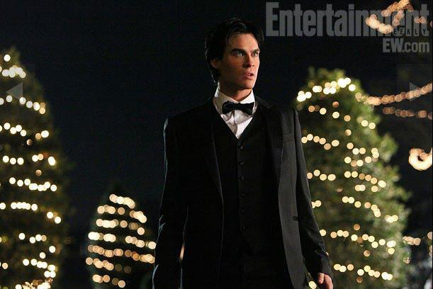 couple, cute, damon, damon salvatore, dress
