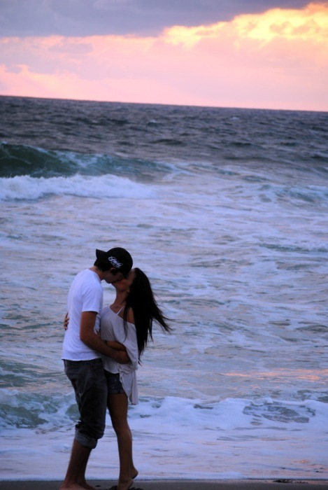 couple, kiss, love, photo, sea