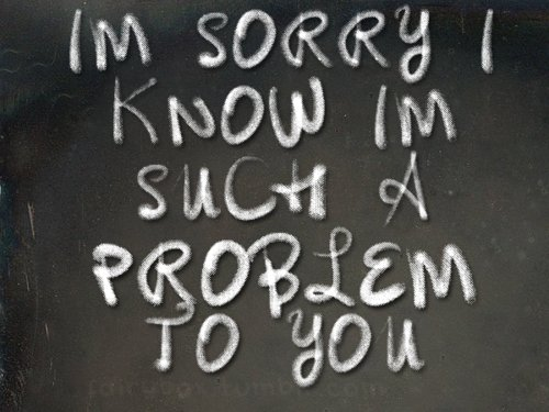 couple, problem, sorry, text