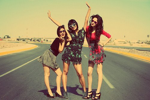 crazy, friends, girls , happy