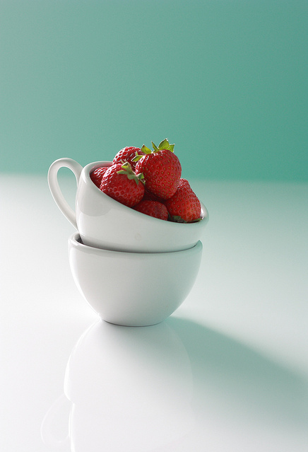 cup, love, photography, red, strawberries