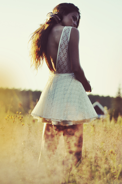 curls, dress, girl, hair, lace, lovely, pink, sun, white