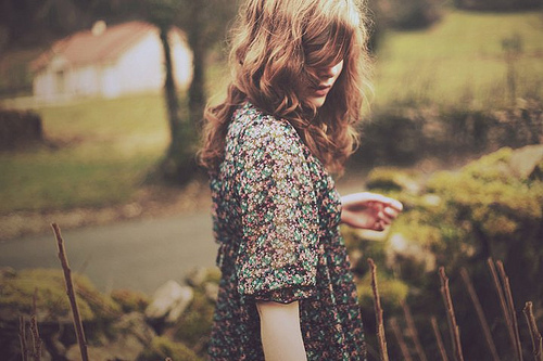 curls, girl, hair, vintage