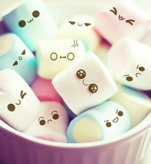 cute, cute food, face, food, marshmellow