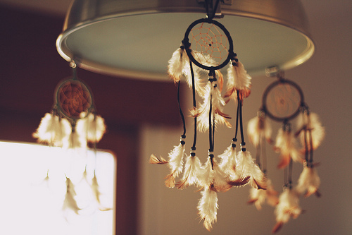 cute, dream catcher, dreamcatcher, feathers, lamp