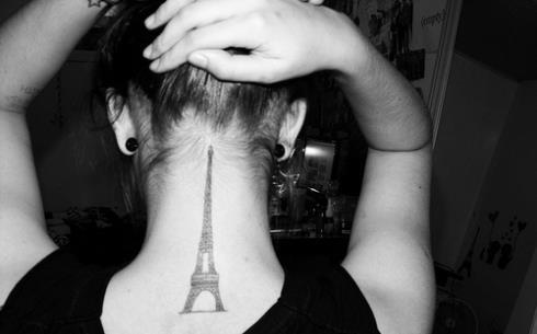 cute, eiffel tower, france, girl, hair, paris, tattoo