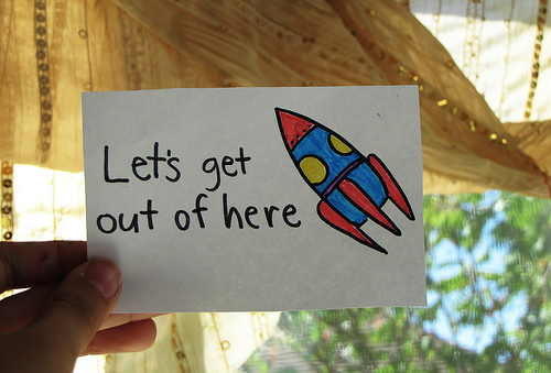cute, escape, get out, illustration, love, space, text, text cute