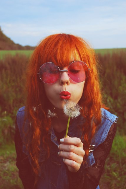 cute, fringe, ginger, girl