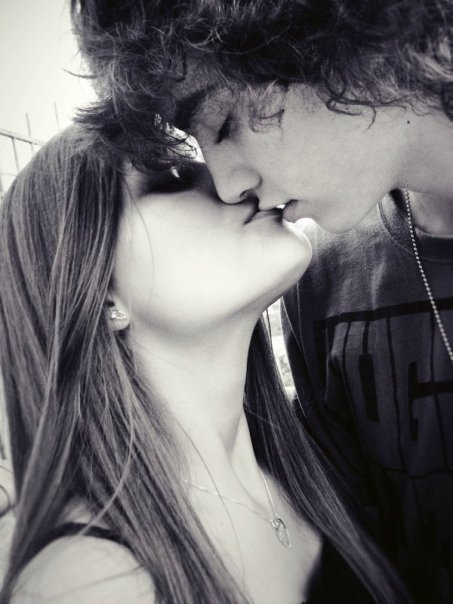 cute, girl, guy, kiss, love