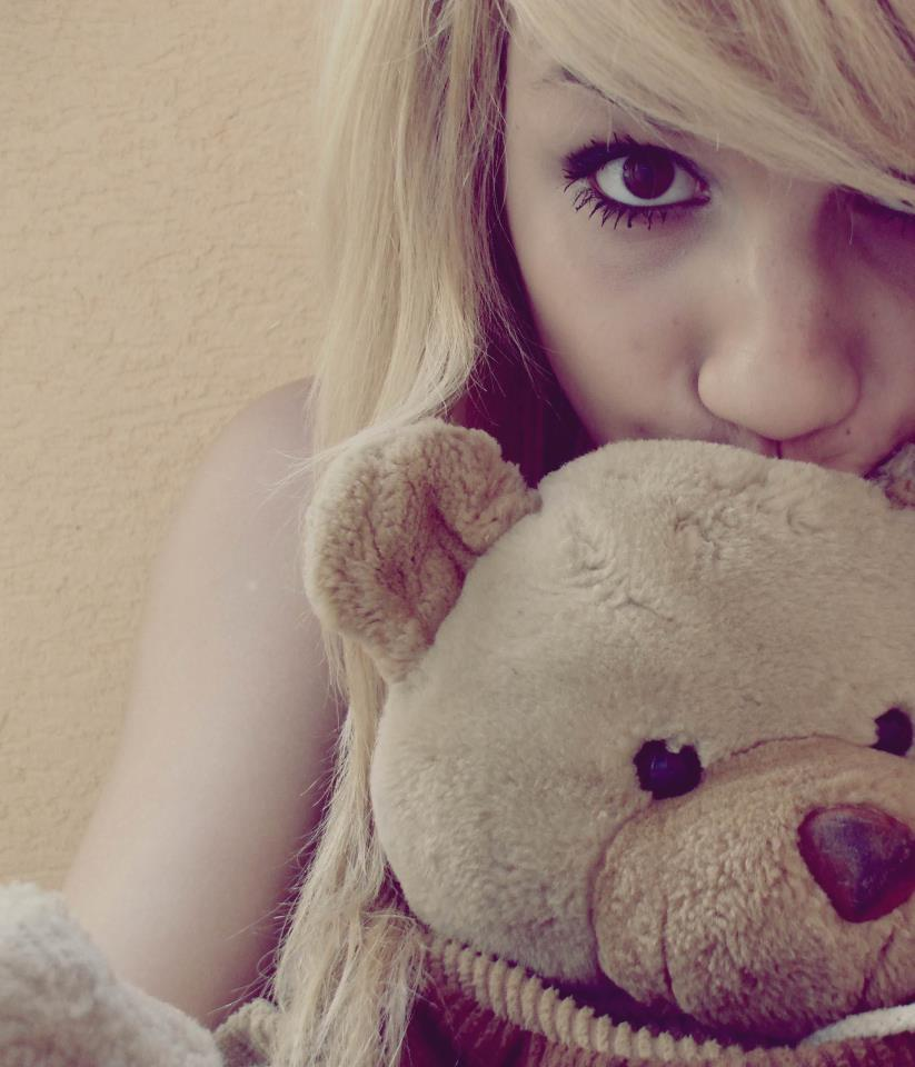 cute, girl, hair, nose, teddy