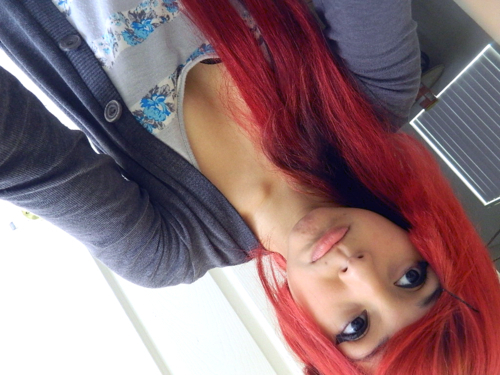 cute, girl, hair, red hair
