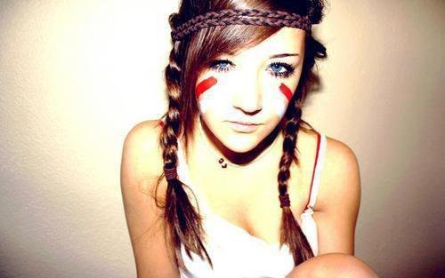 cute, girl, head band, indian, natural