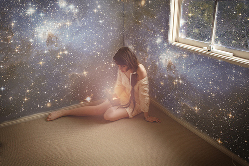 cute, girl, love, paint, photography, pretty, stars, walls
