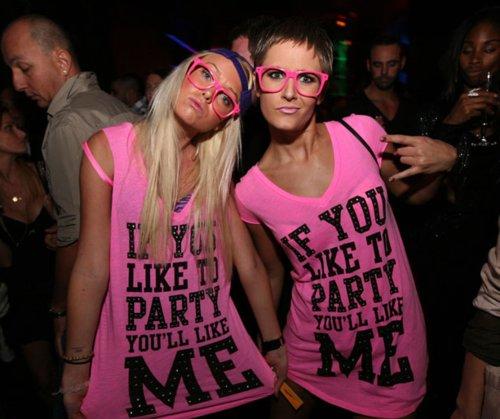 cute, girls, party, pink, shirt