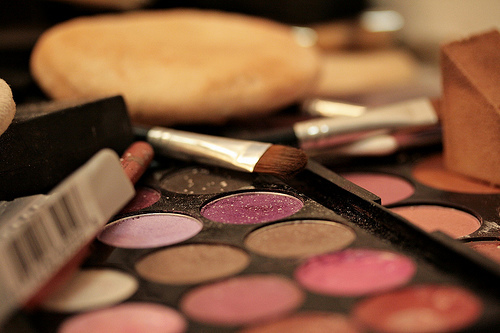 cute, girly, make up, makeup, pretty colours