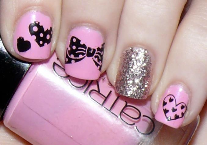 cute, girly, nails