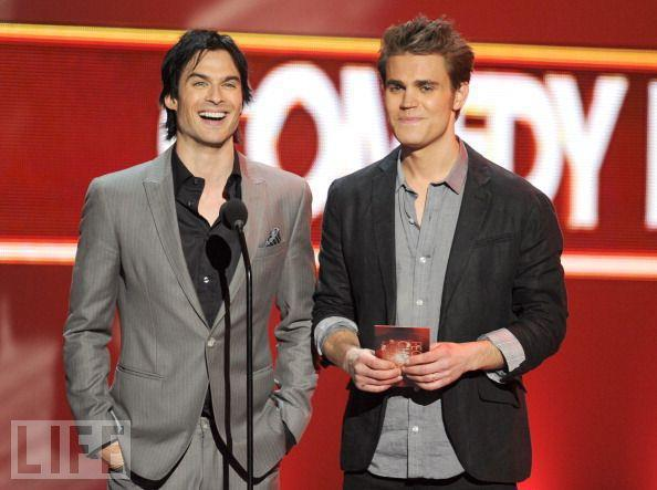 cute, hot, ian somerhalder, paul wesley, smile, the vampire diaries, tvd