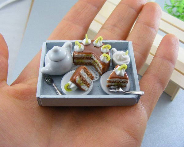 cute, miniature, tea