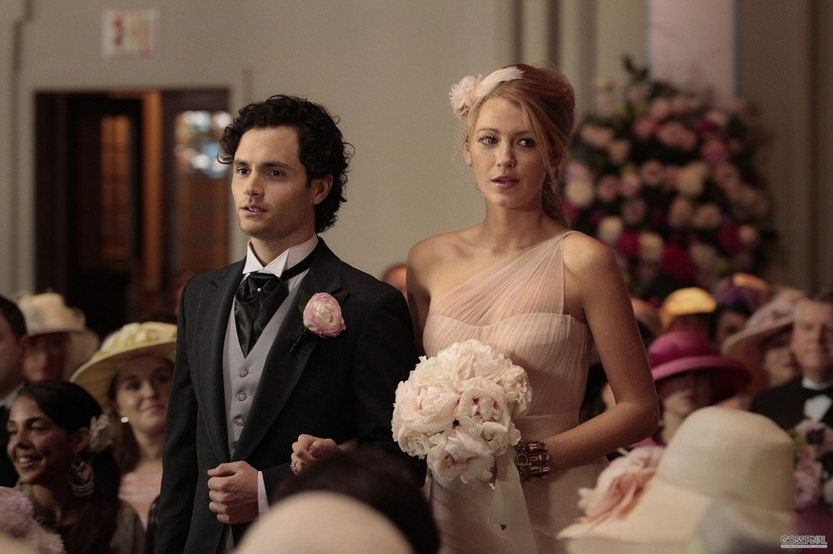 dan, gossip girl, serena, wedding