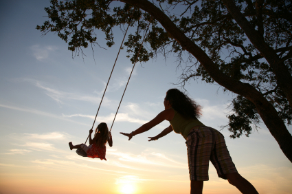 daughter, love, mom, play, swing
