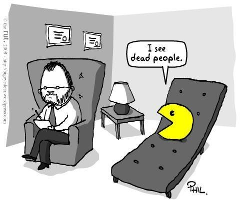 dead, funny, ghost, pacman, sketch