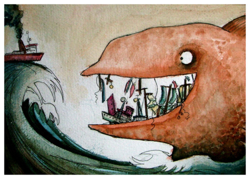 draw, love, paint, water, whales
