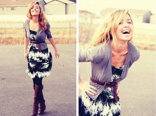 dress, fashion, girl, laugh, smile