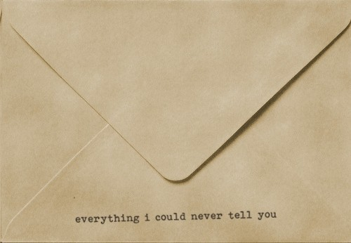 envelope, typewriter, words