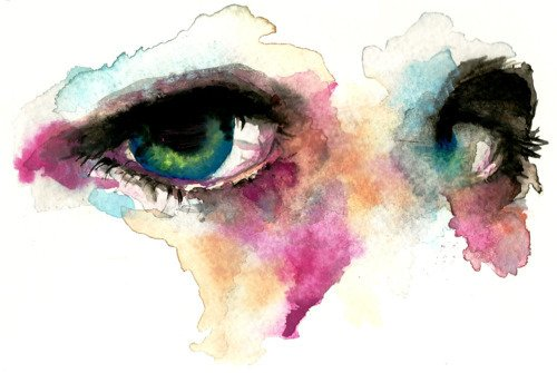 eyes, paint, watercolor, watercolour