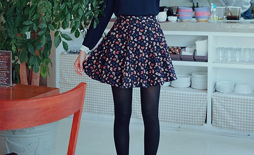fashion, floral, girl