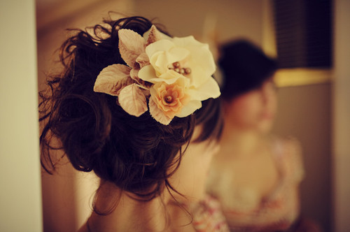 fashion, flower, hair, pretty