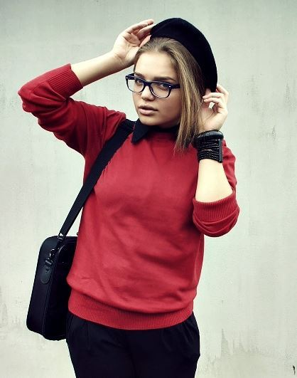 fashion, girl, glasses, look, outfit, photography, school girl