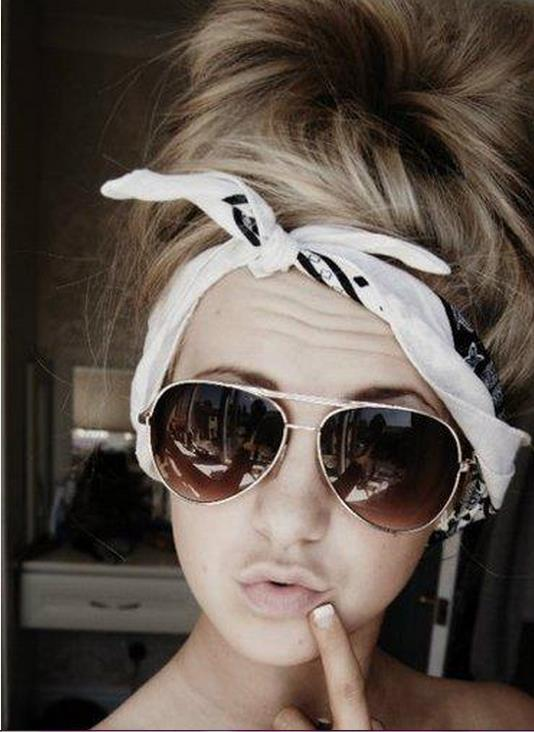 fashion, girl, hair, sunglasses