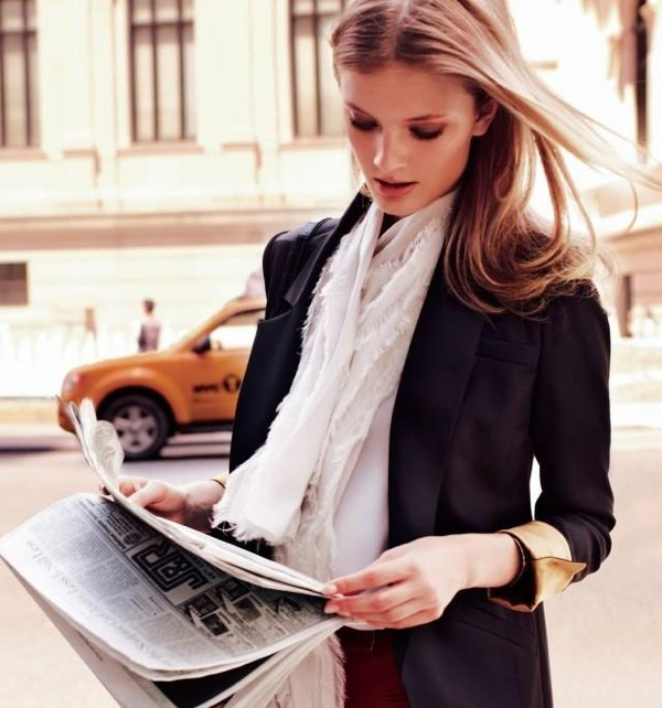 fashion, girl, model, newspaper