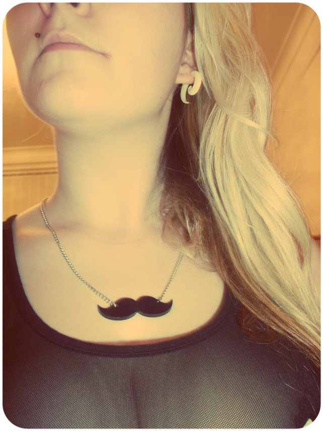 fashion, girl, moustache
