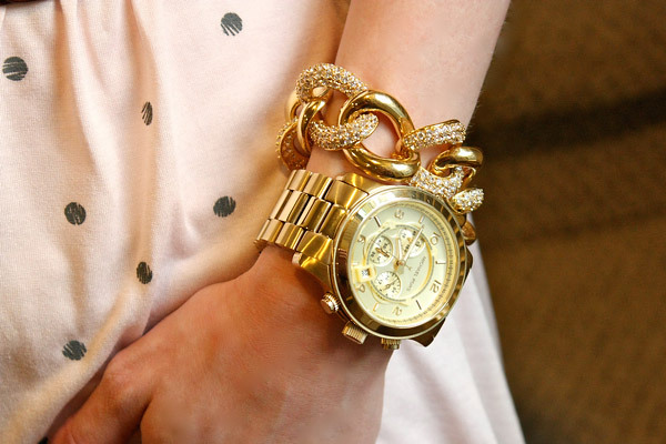 fashion, gold, jewelry, watch