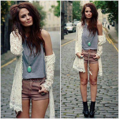 fashion, lace, short