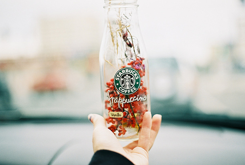 flower, flowers, frapuccino, hand, ophidiophobic