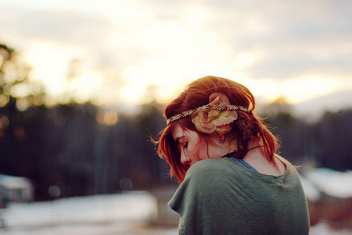 flower, free, girl, hair, nature