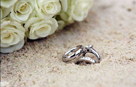 flowers, love, ring, rings, sand