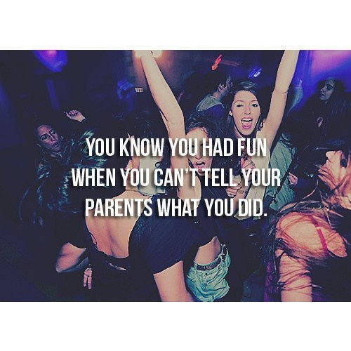 friends, fun, parents, party, text