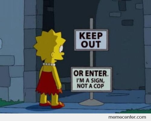 funny, keep out, simpsons