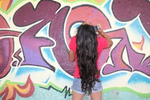 girl, graffiti, grafiti, long hair, lucia boemo