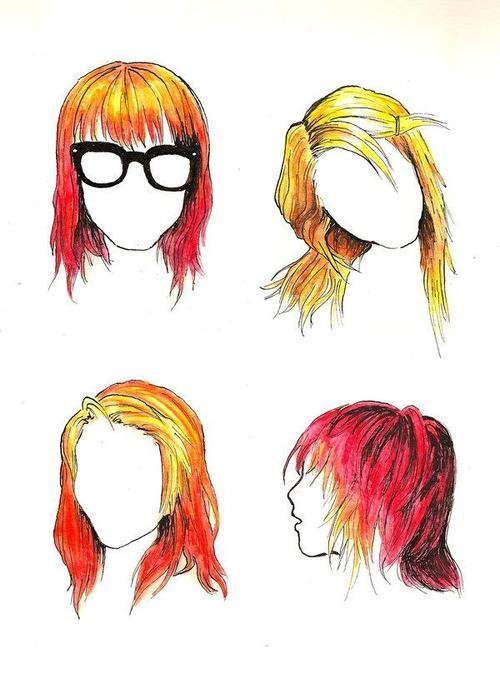 girl, hair, hayley williams, ned glasses, orange hair