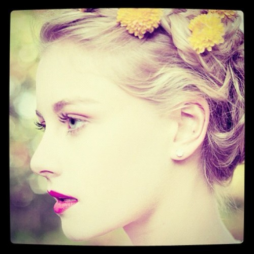 girl, hair, innocence, make aup, style, sweet, vintage