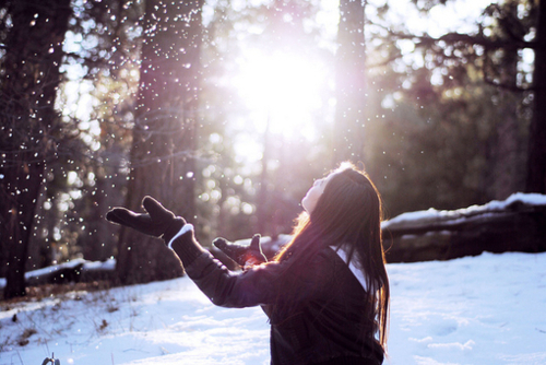 girl, hair, photography, snow