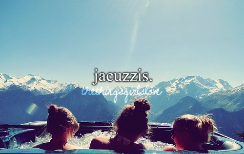 girls, jacuzzi, jacuzzis, mountain, snow, the things girls love