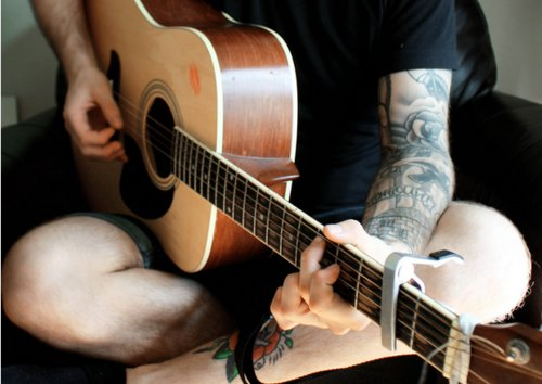 guitar, music, sound, tattoo