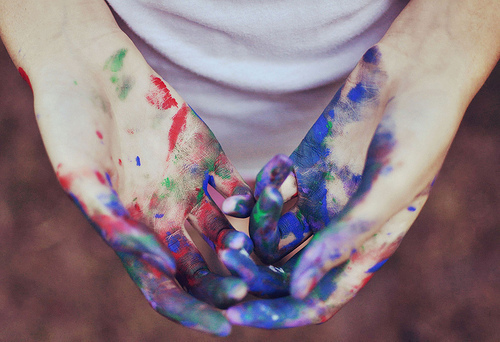 hand, paint, photography
