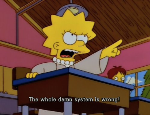 ilustration, lisa simpson, quote, quotes, simpsons, system